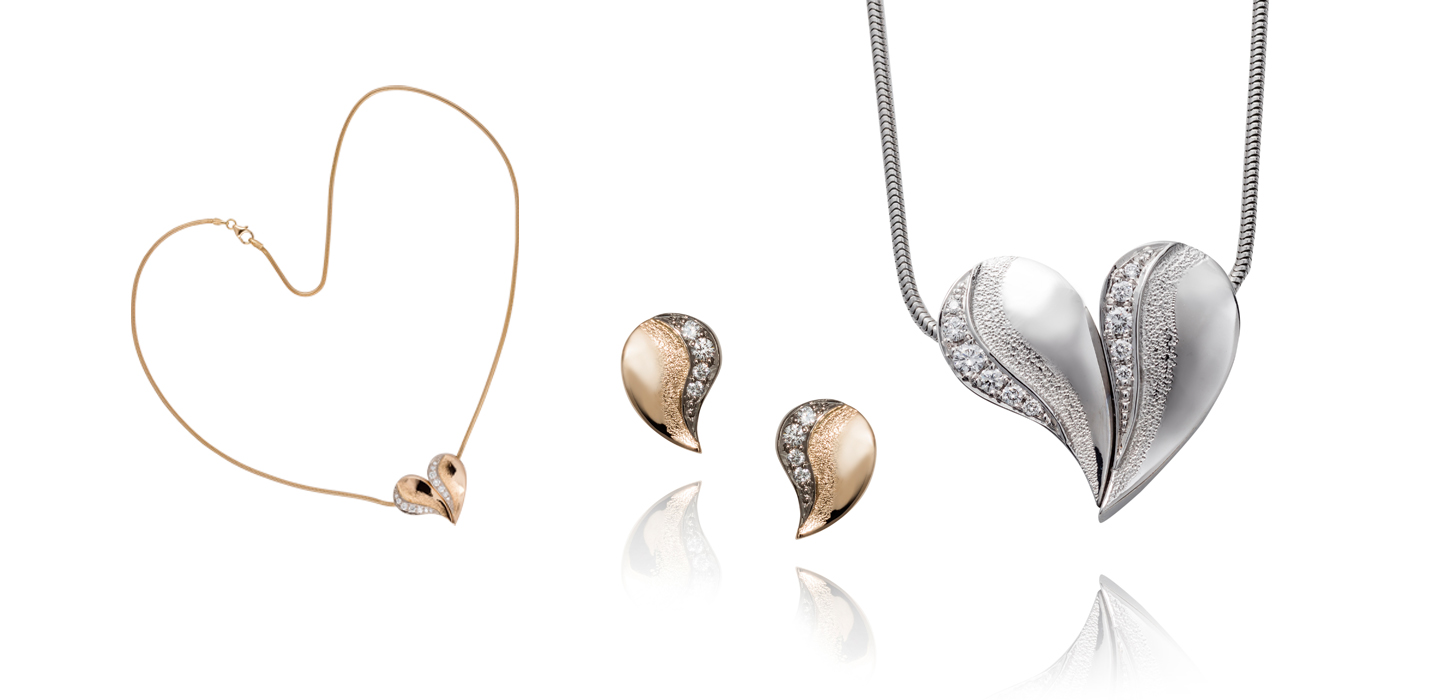 ad235f0d7b Handmade goldhearts with diamonds – Theresia Hvorslev